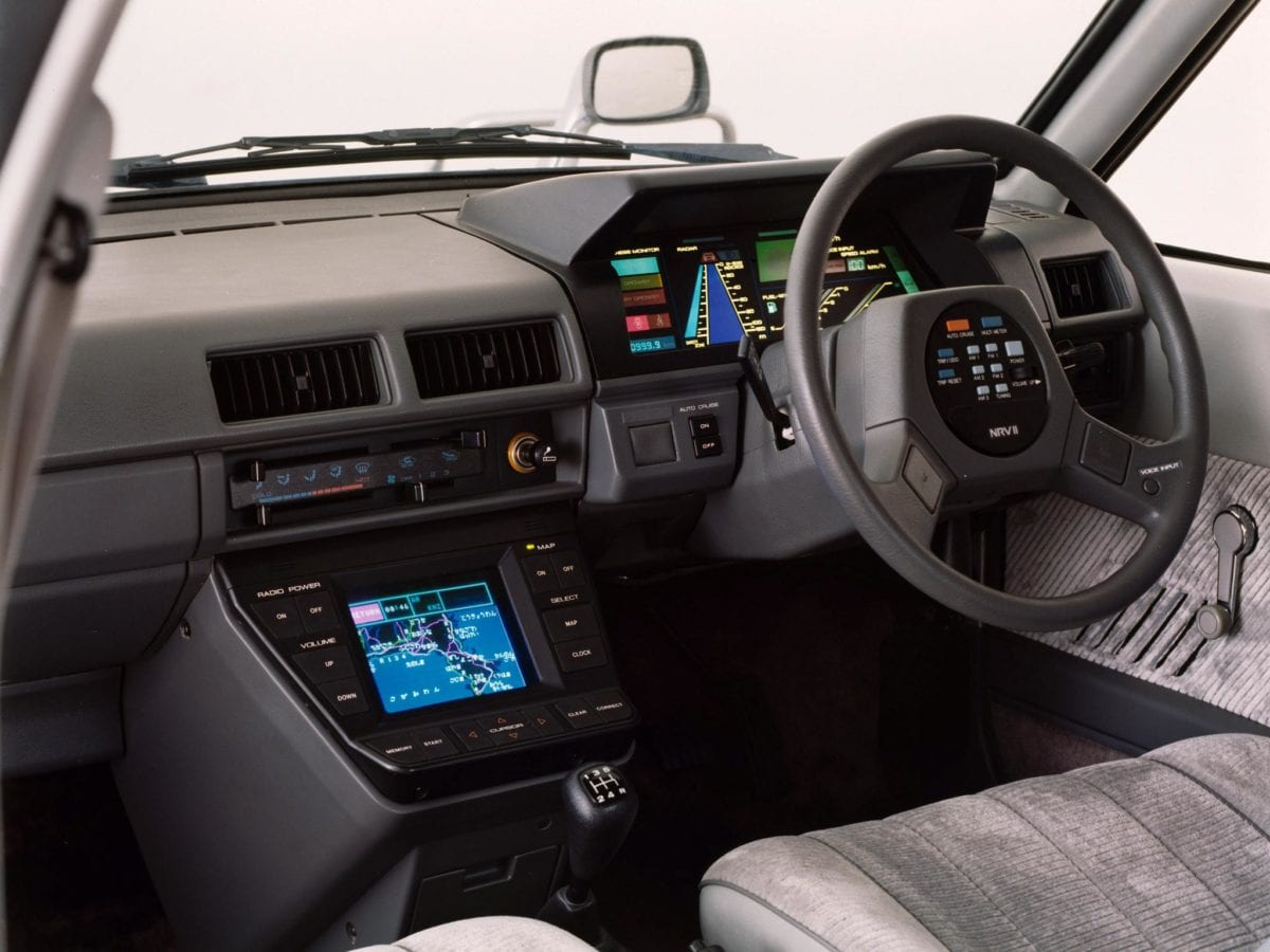 The interior of Nissan's 1983 NRV-II concept