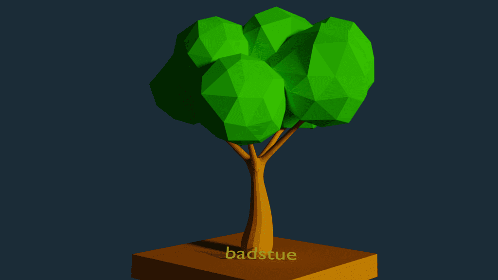 low polygon tree